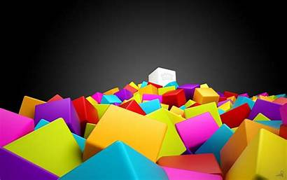 Cubes 3d Wallpapers Cube Colorful Resolution 4k