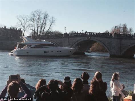 Boat Crash River Thames by Luxury Yacht Smashes Into Richmond Bridge On The Thames