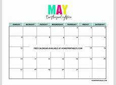 Printable Calendar 2018 in Full Colors Free to Print!