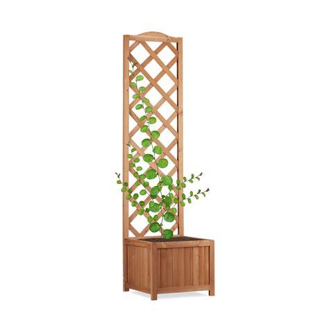 Outdoor Wooden Trellis by Outdoor Planter Box With Trellis Weatherproof Lattice
