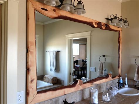 Large Bathroom Mirror Frame by 20 Inspirations Wood Framed Mirrors Mirror Ideas