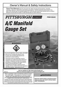 Harbor Freight Tools A  C R134a Manifold Gauge Set Product