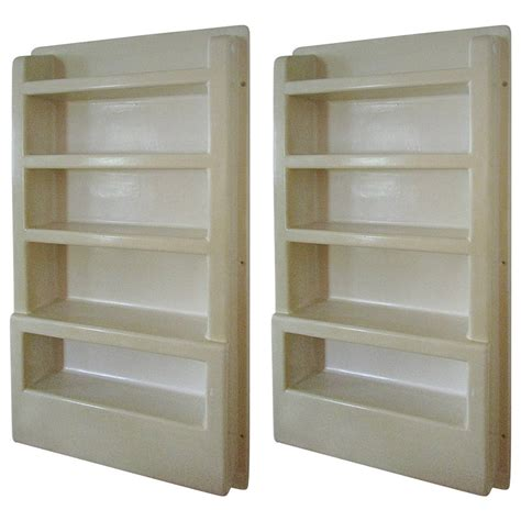 Plastic Wall Mounted Shelving Unit For Kitchen Ingredients