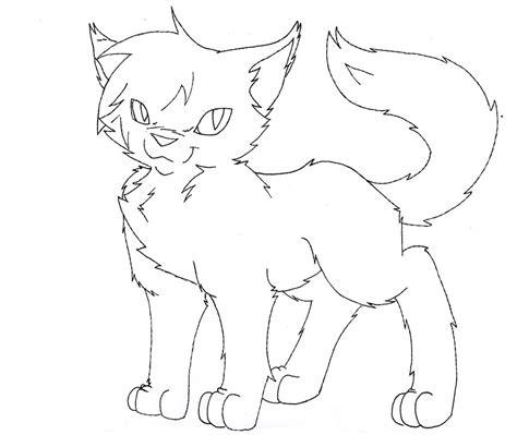 Warrior Cat Lineart By Thrushfeather On Deviantart