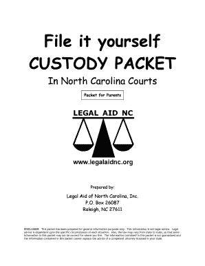 custody forms  nc fill  printable fillable