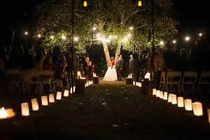 Lighten Up Your Night Wedding Reception Ideas