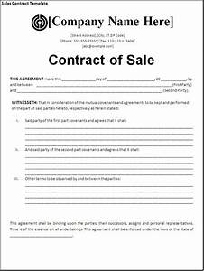 sales contract template cyberuse With contract for sale of business template