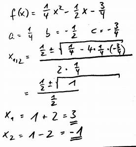 Schnittpunkte Mit Koordinatenachsen Berechnen : mitternachtsformel ~ Themetempest.com Abrechnung