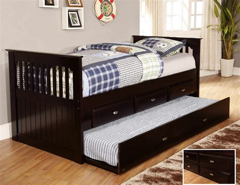discovery world furniture espresso day beds  drawers