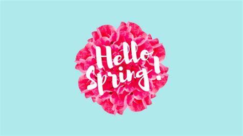 minimalist pastel floral script spring wallpaper