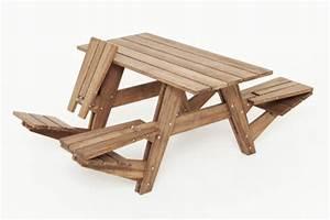 Mesas prácticas para ahorrar espacio en el jardín