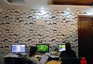 Office wall decor ideas for Wallpapers office delhi