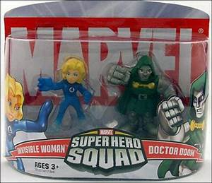 Marvel Super Hero Squad Invisible Woman and Doctor Doom ...