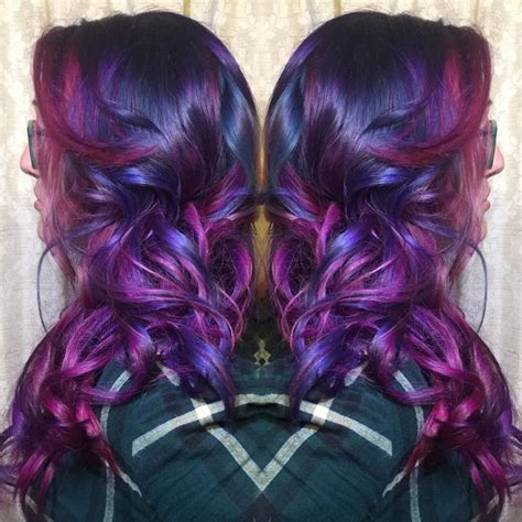 multidimensional purple  pink hair hair colors ideas