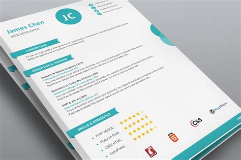 Designer Resumes Templates by Creative Resume Template Word Flat 50 Use Coupon Resume50