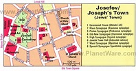 Josefov Quarter Prague Map | Jewish Quarter of Prague ...