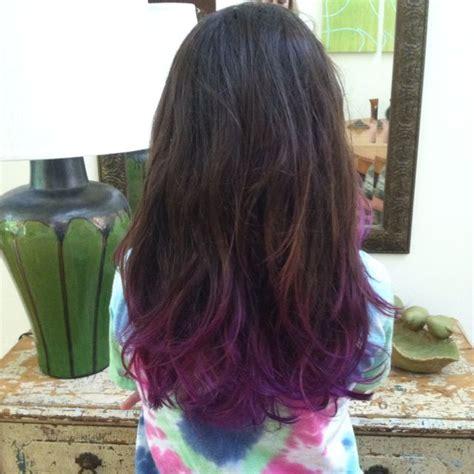 Best 25 Purple Dip Dye Ideas On Pinterest Red Hair Tips