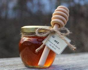 set of 24 rustic wedding honey jar favors with honey With honey dipper wedding favors