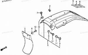 Honda Motorcycle 1984 Oem Parts Diagram For Rear Fender