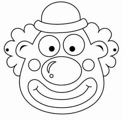 Clown Mask Coloring Preschool Crafts Worksheets Kindergarten