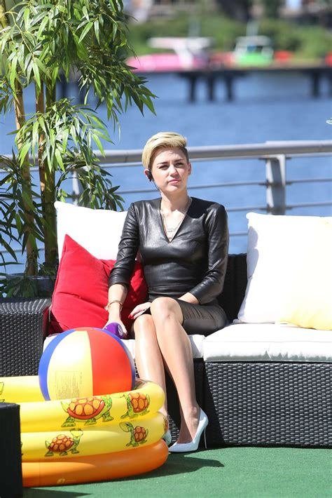 Miley Cyrus On German Sat 1 Tv Show News People