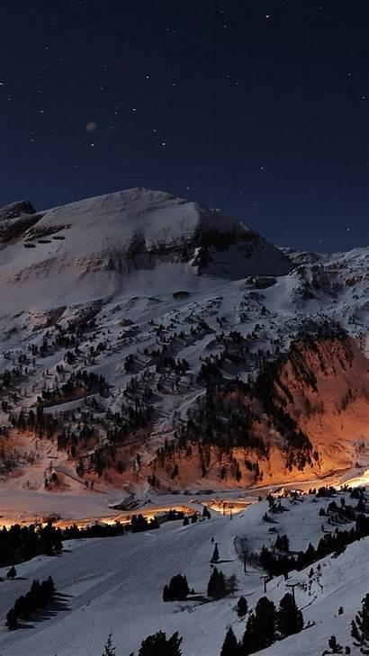 Night Iphone Wallpapers Ski Stars Background Slope