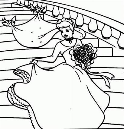 Coloring Pages Princess Cake Cinderella Prince Clip