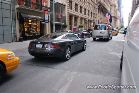aston martin db spotted  manhattan  york
