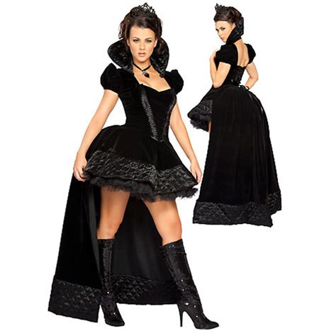 Sexy Enchanting Black Queen Princess Costume Halloween Costume For Women Womens Cosplay Witch ...