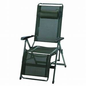 Fauteuil Relax Jardin : maison et jardin fauteuil relax alu cedre trigano ~ Nature-et-papiers.com Idées de Décoration
