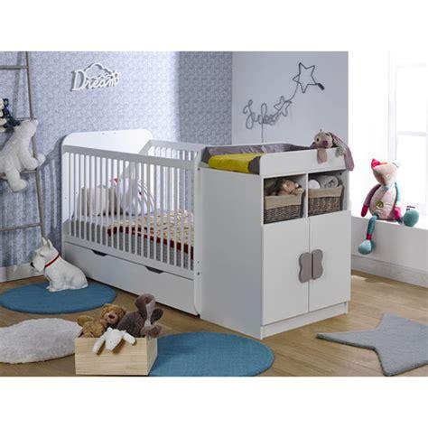 promo chambre bebe pack promo ensemble lit bébé combiné évolutif 70x140 tiroir blanc pas cher à prix auchan