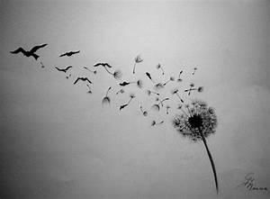 Pusteblume Schwarz Weiß Vögel : die besten 25 pusteblume tattoo ideen auf pinterest tattoo stern im ohr freundschafts tattoo ~ Orissabook.com Haus und Dekorationen