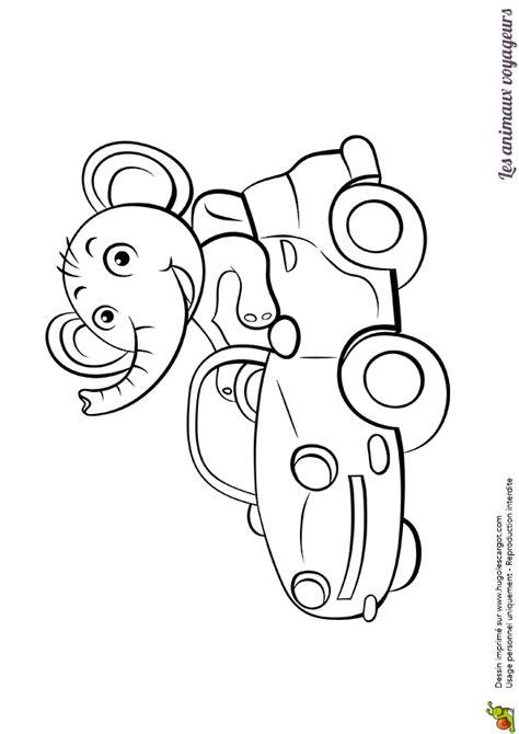 coloriage des animaux voyageurs l éléphant dans une