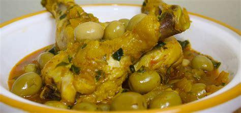 recette cuisine recette tajine de poulet aux olives recette marocaine