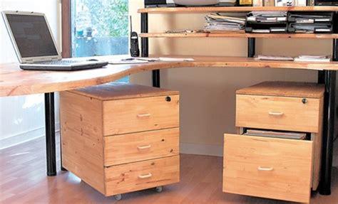 plan de travail bureau fabriquer des caissons de bureau en bois