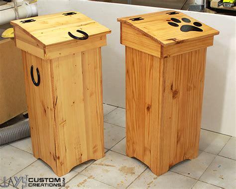 wooden trash  jays custom creations