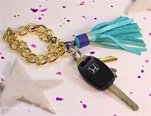 Leather Tassel Keychain · How To Sew A Fabric Charm