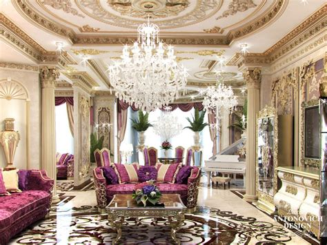 Professional Living Room Interior Designs In Qatar By