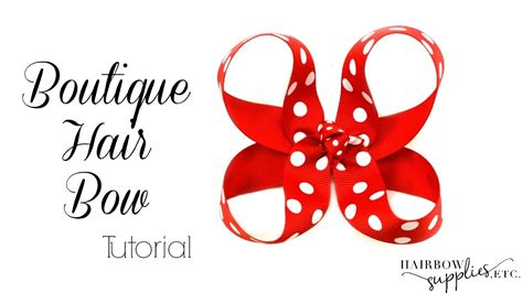boutique style hair bow tutorial boutique hair bow tutorial 3 inch basic bow hairbow 6832