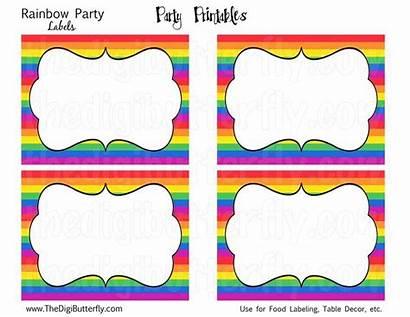 Rainbow Labels Templates Printable Printables Label Template