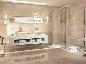Beige Fliesen Bad : badezimmer in beige mit akzentwand in 2019 moderne ~ Watch28wear.com Haus und Dekorationen