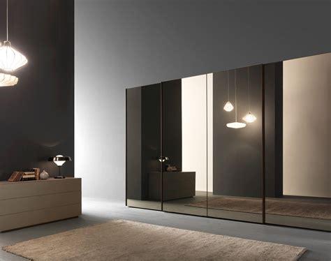 wardrobe  glass sliding doors bronze mirror panels