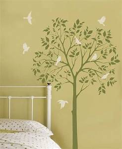 Tree stencils off the wall