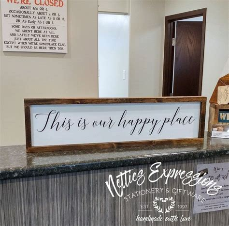 this is our place 6x26 rustic framed wood sign