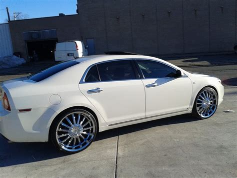 2008 chevy malibu on 22 quot vision shattered rims youtube