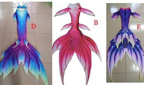 Adult Kids Customized Mermaid Tail Swimming Cosplay
