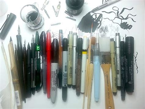 ink drawing supplies pt   types  ink drawing