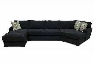 Black fabric sectional sofa with chaise teachfamiliesorg for Black fabric sectional sofa with chaise