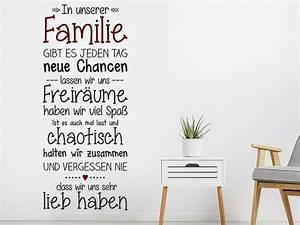 Wandtattoo Sprüche Familie : wandtattoo familie mit herz spruchband wandtattoo de ~ Frokenaadalensverden.com Haus und Dekorationen