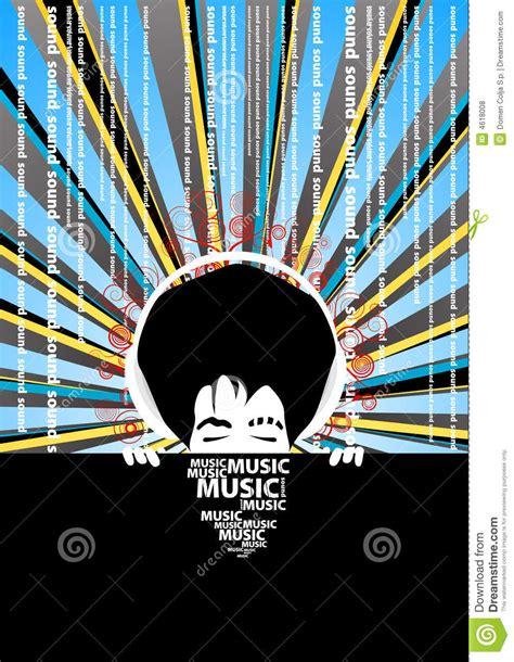 poster  cool man  headphones royalty